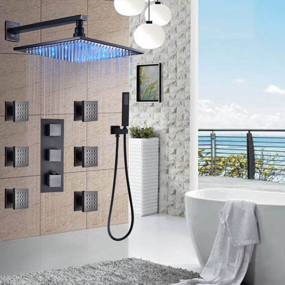 Brushed Nickel Waterfall Tub Faucet Hand Shower With Diverter Deck Mount Mixe