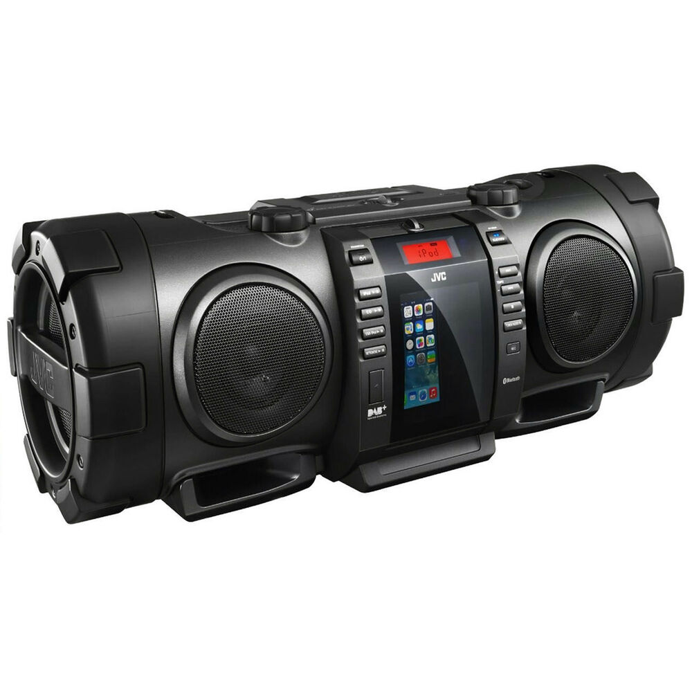 jvc rvnb100 40w portable bluetooth dab cd radio boombox. Black Bedroom Furniture Sets. Home Design Ideas