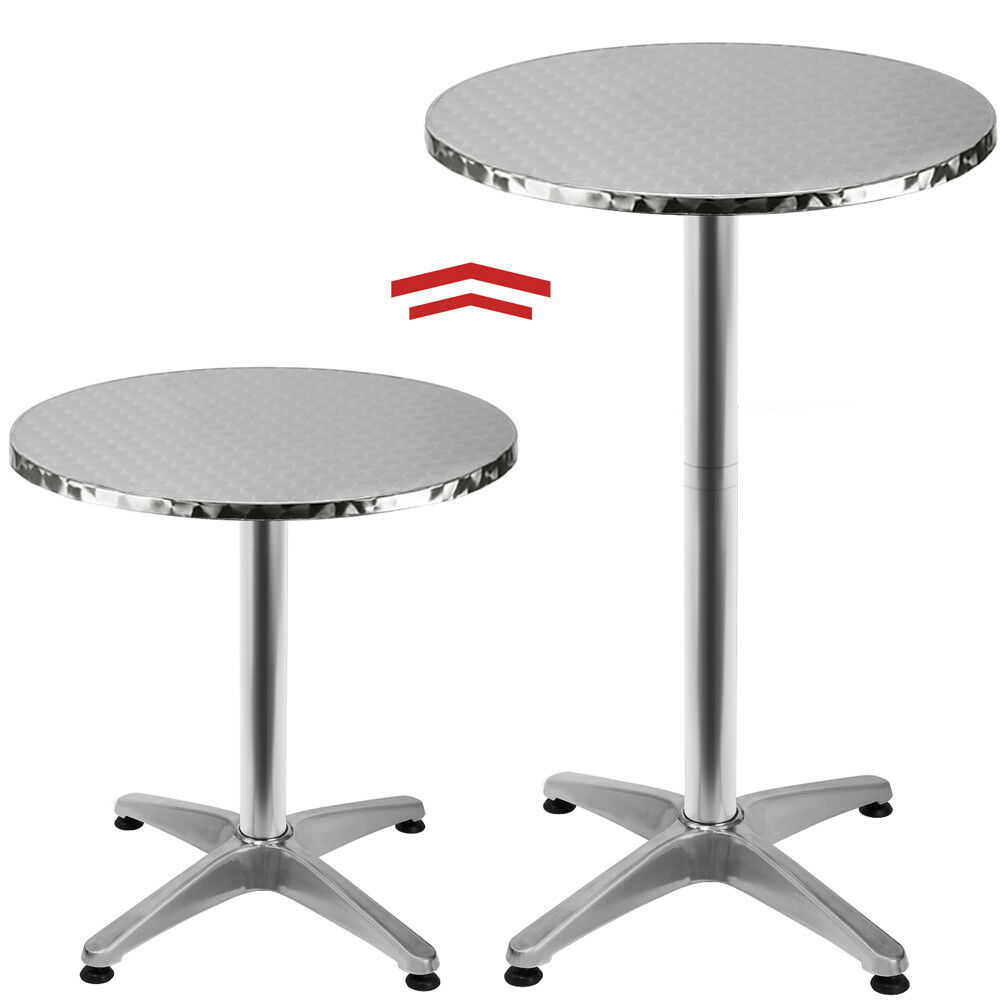 Bistro round table aluminium side table dining table 65 115cm ebay