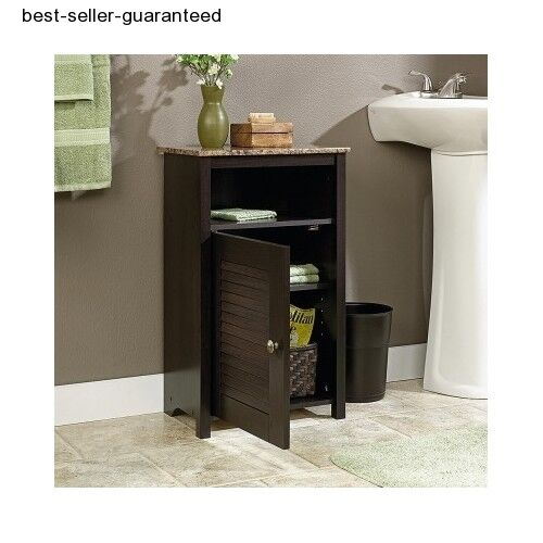 bathroom storage cabinet bath floor cupboard shelves towel 18318