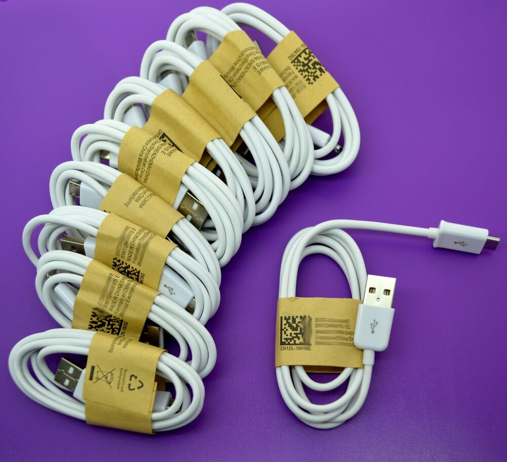 Smart Phone Cable : Lot micro usb data sync cable cord for android cell phone
