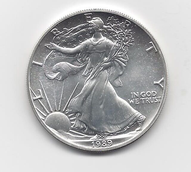 1989 1 Oz American Silver Eagle Coin One Troy Oz 999