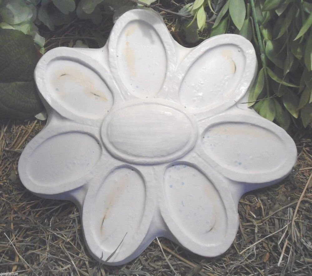 Gostatue mold simple flower plastic mold for plaster or for Concrete craft molds