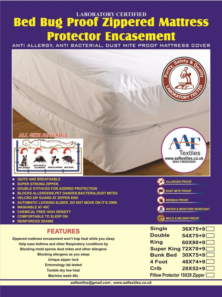 Free Pillow Cover Lab Certified Bedbug Proof Mattress