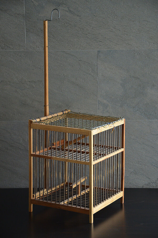 bird animal trap wooden aviary cage primitive handmade rustic chic cottage decor cottage chic home decor