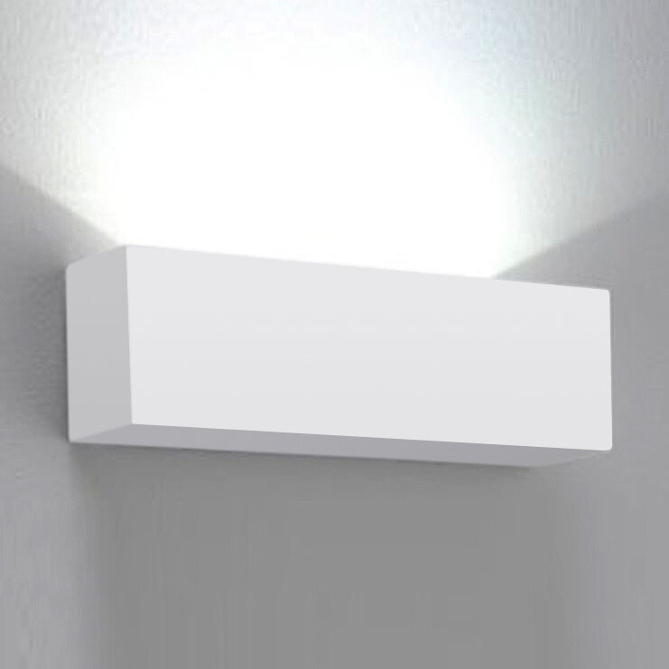Wall Mounted Lamps Argos : Contemporary Square White Ceramic Indoor Uplighter Wall Light Fittings Lights eBay