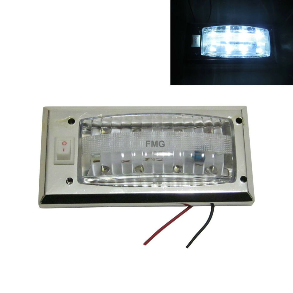 8 led panel auto innenraum beleuchtung 12v lampe taxi transporter camping wei ebay. Black Bedroom Furniture Sets. Home Design Ideas