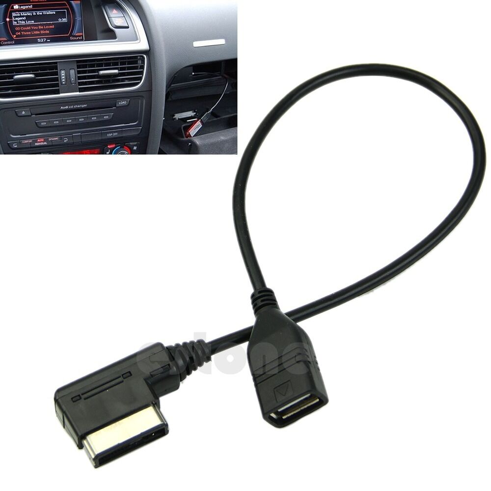 for audi music interface ami mmi aux to usb adapter cable flash drive car audio ebay. Black Bedroom Furniture Sets. Home Design Ideas
