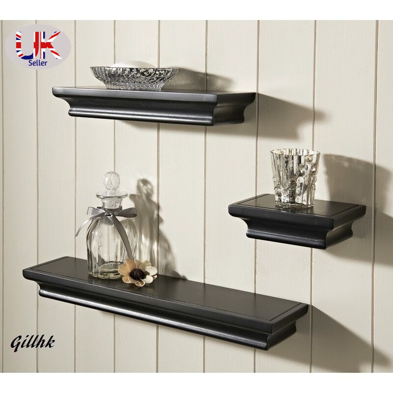 Tikai Set Of 3 Modern Wood Effect Vintage Floating