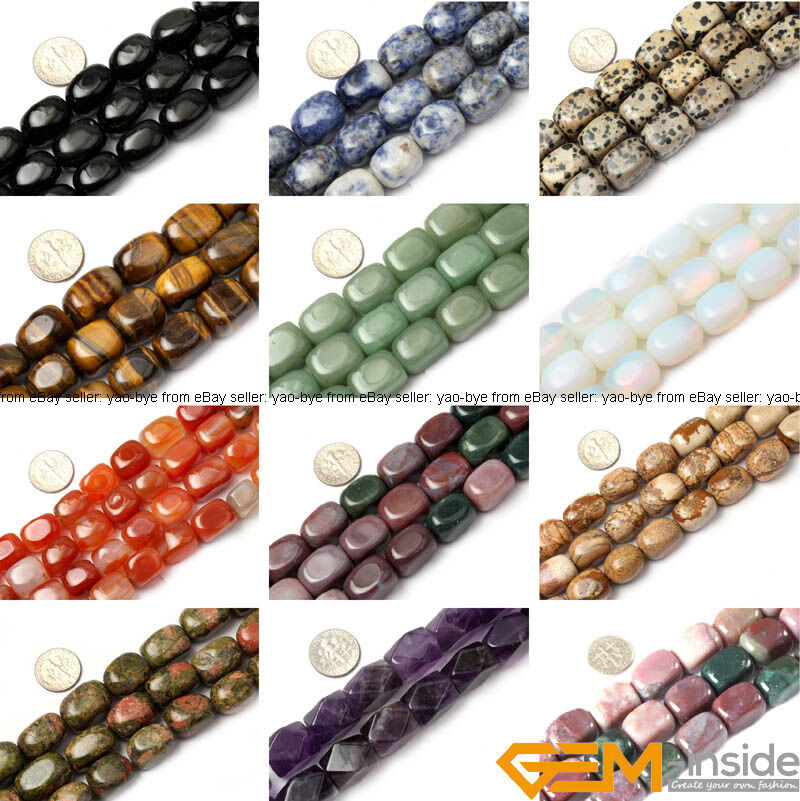 Natural 13x18mm Freeform Column Gemstone Beads For Jewelry ...