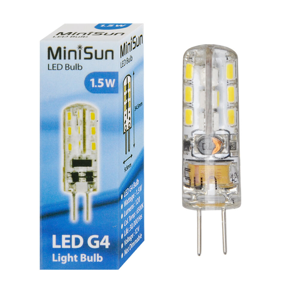 minisun branded 1 5 watt led g4 capsule 6500k cool white. Black Bedroom Furniture Sets. Home Design Ideas