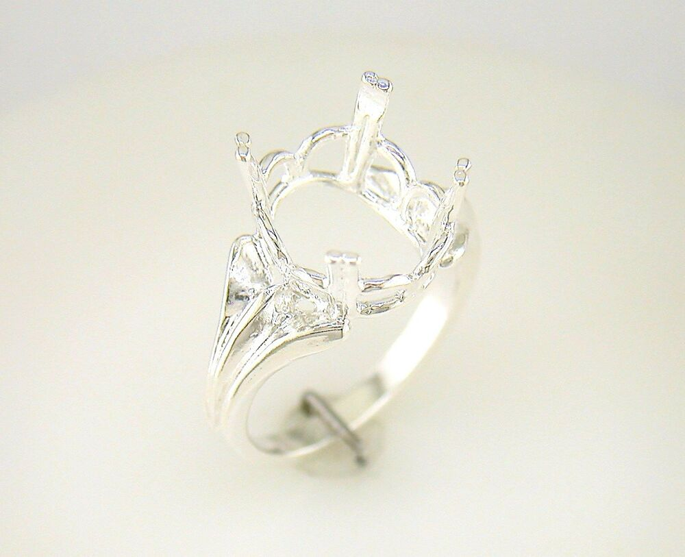 oval regalle solitaire ring setting sterling silver ebay