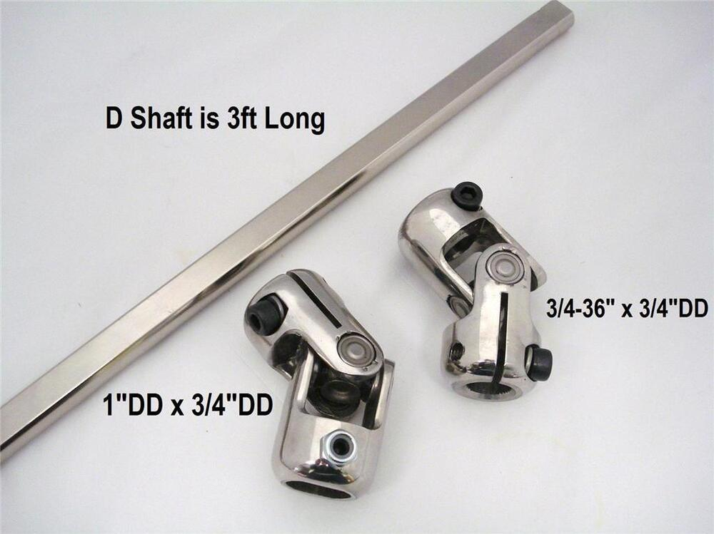 Stainless Steering Kit 1 Quot Column Joint Mustang Ii Power