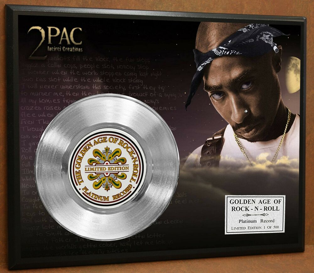 History Platinum: 2 Pac / Tupac LTD Edition Poster Art Platinum Record Music