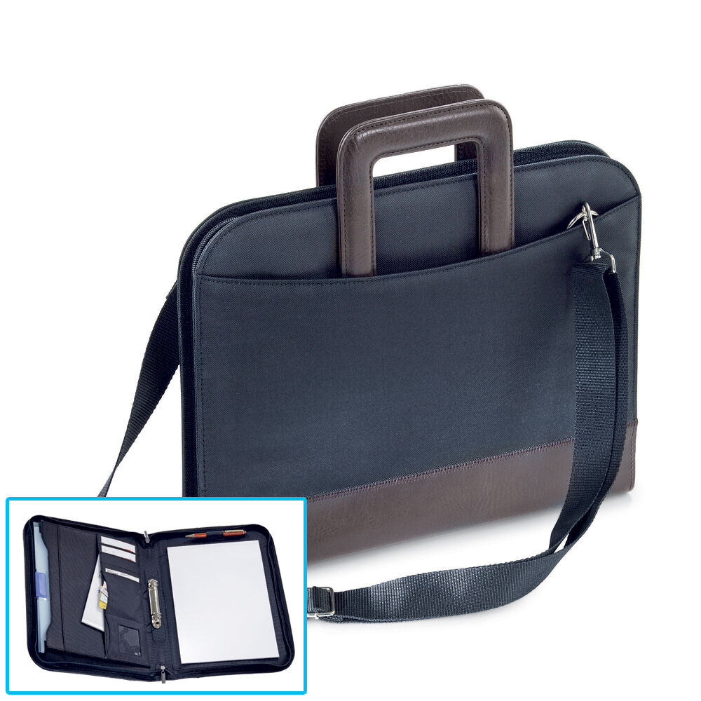 A4 ZIPPED 2 RING BINDER Conference Folder & Document Bag