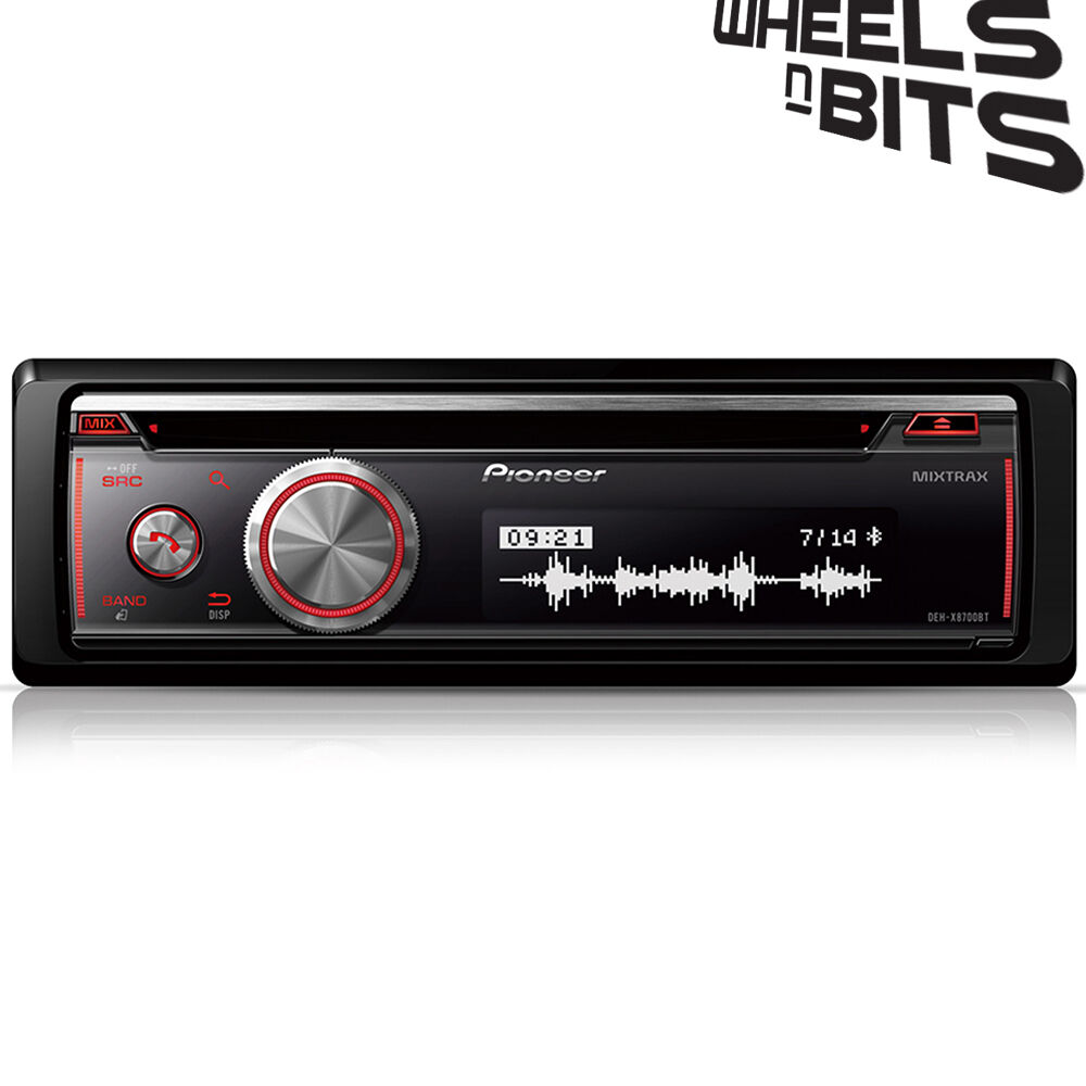 pioneer deh x8700bt bluetooth car stereo cd radio usb aux. Black Bedroom Furniture Sets. Home Design Ideas