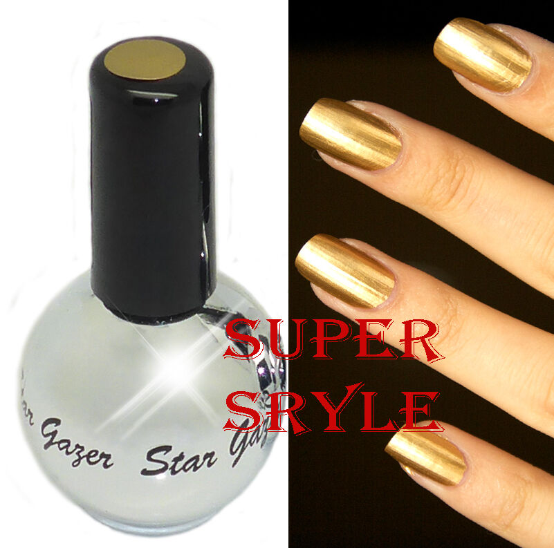 Stargazer CHROME GOLD Metallic Nail Polish Varnish | eBay