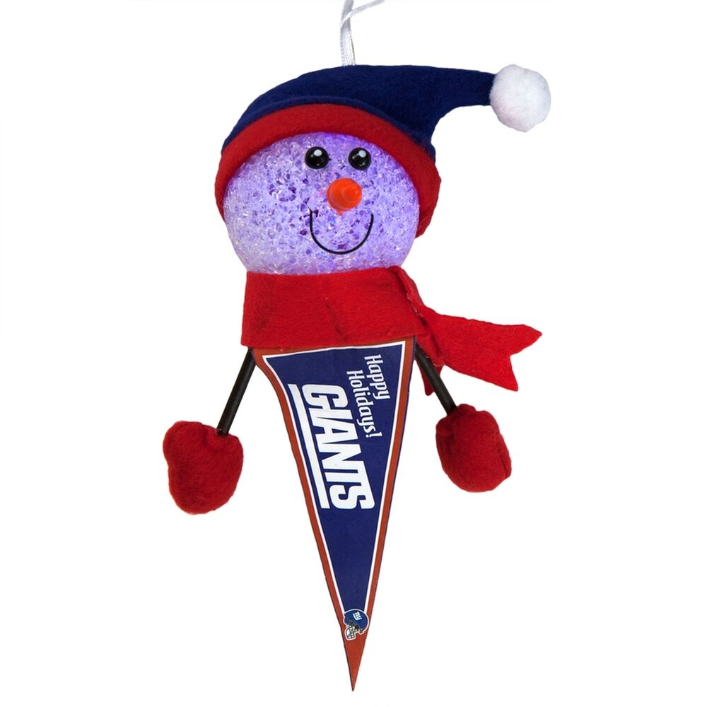 New York Giants - Light-Up Snowman Pennant Christmas Ornament ...