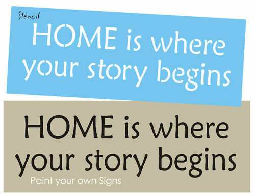 Country STENCIL HOME Is Where Your Story Begins Love ...