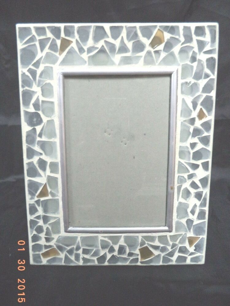 nib mosaic glass tiled photo picture frame 4 quot x 6