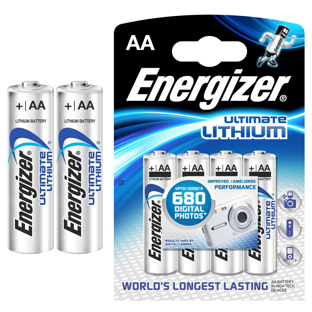 8 x energizer aa ultimate lithium batterien lr06 lr6. Black Bedroom Furniture Sets. Home Design Ideas