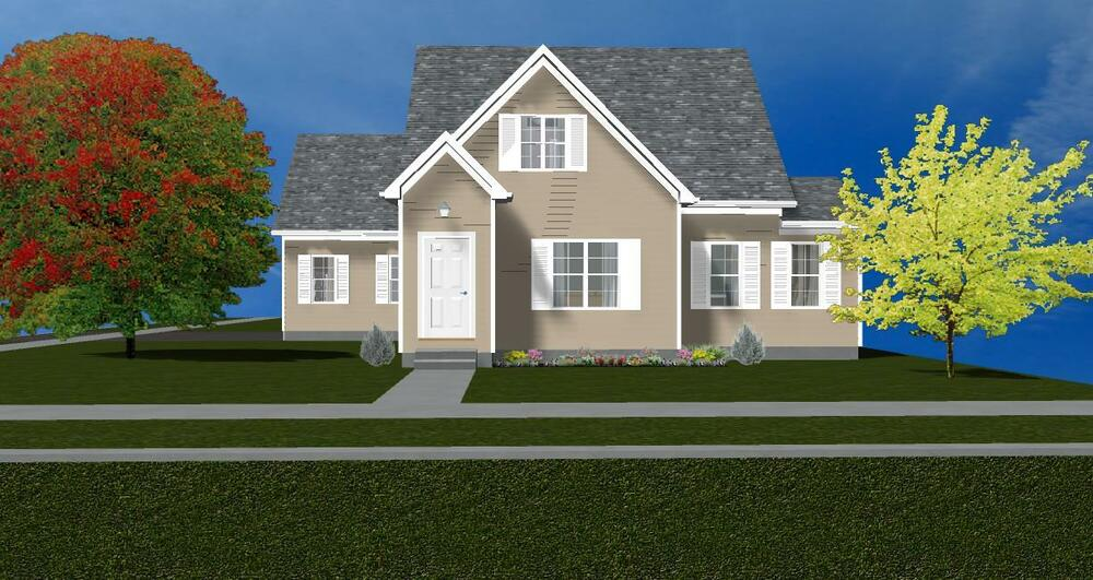 Beautiful 2 story cape cod house plans1987 s q f t ebay for Two story cape cod