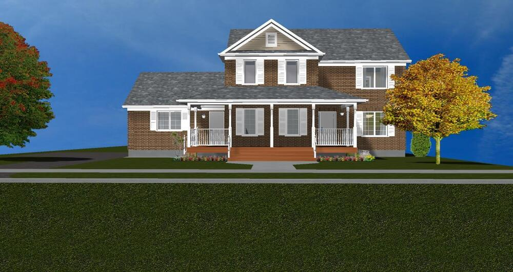 Beautiful 2-Story Brick House Plan 2366 SF | eBay