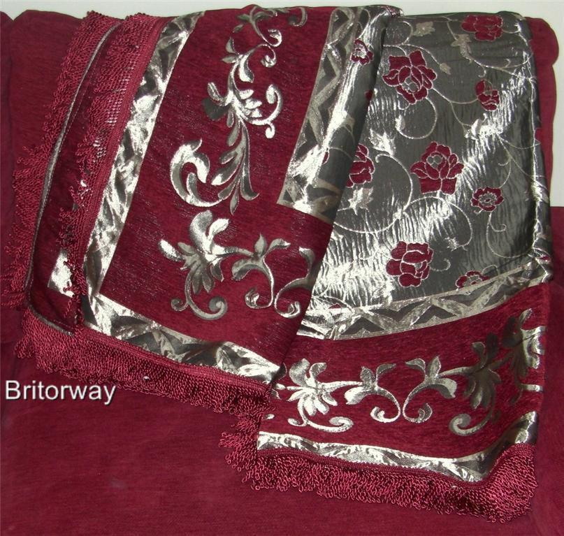 Red Bedspread Sofa Cover Throw Blanket Decor Tapestry + 2