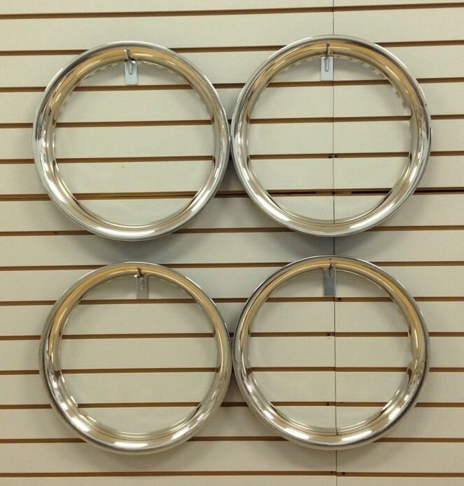 "16 Beauty: 16"" NEW Stainless Steel Beauty Rings TRIM RING SET Of 4"