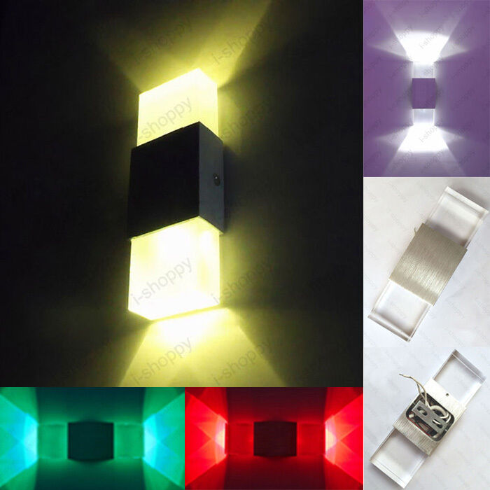Wall Sconces Dimmable : 2W Crystal Dimmable/N LED Wall Sconces Light Hotel Bar Shop Canteen Fixture Lamp eBay