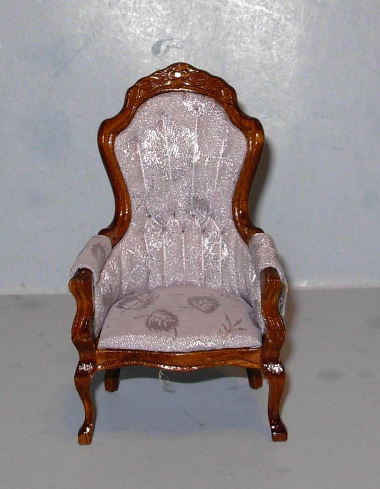 Vintage victorian gents chair doll house furniture for Victorian furniture