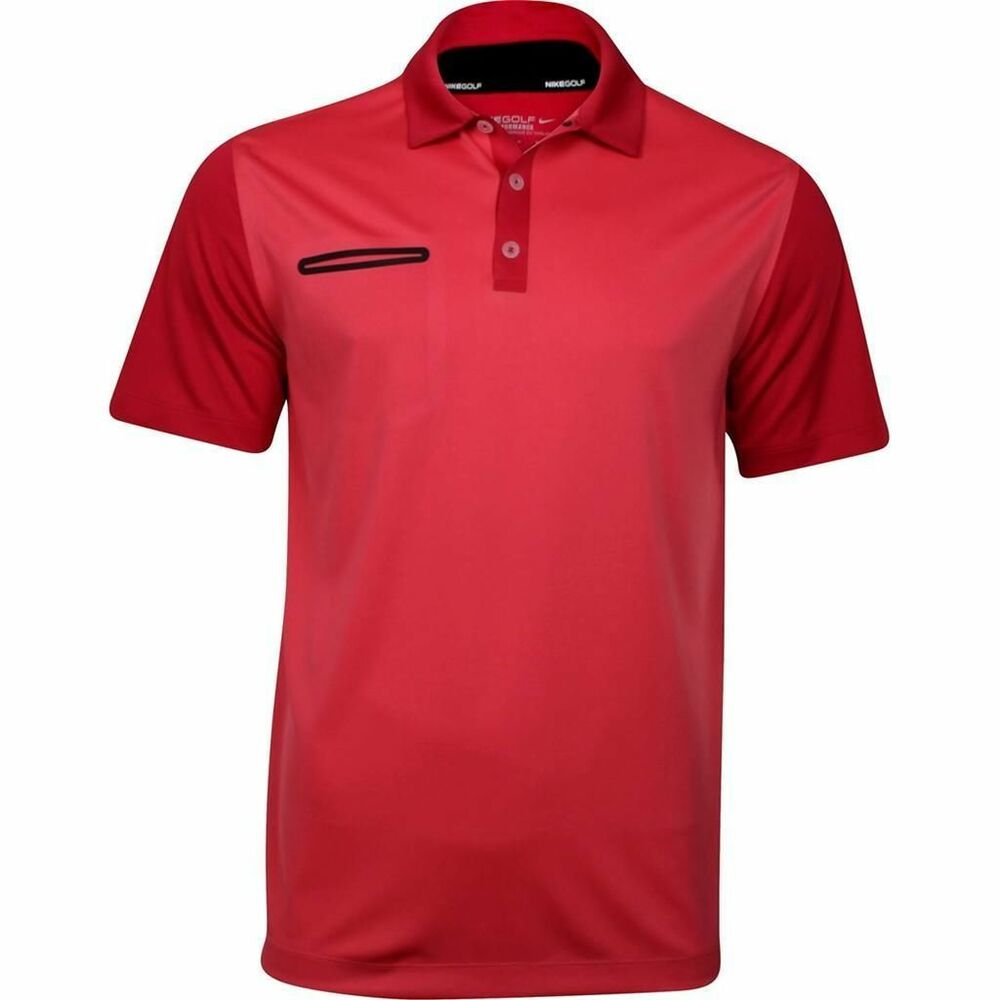 Nike mens dri fit stay cool golf polo shirt red 585820 625 for Cool dri polo shirts