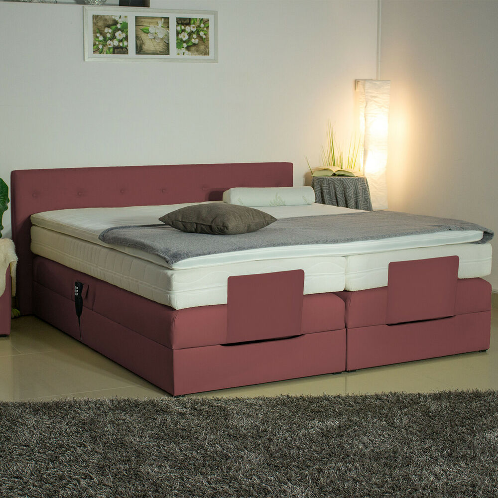 boxspringbett elektrisch 25gm 180x200 farbwahl. Black Bedroom Furniture Sets. Home Design Ideas
