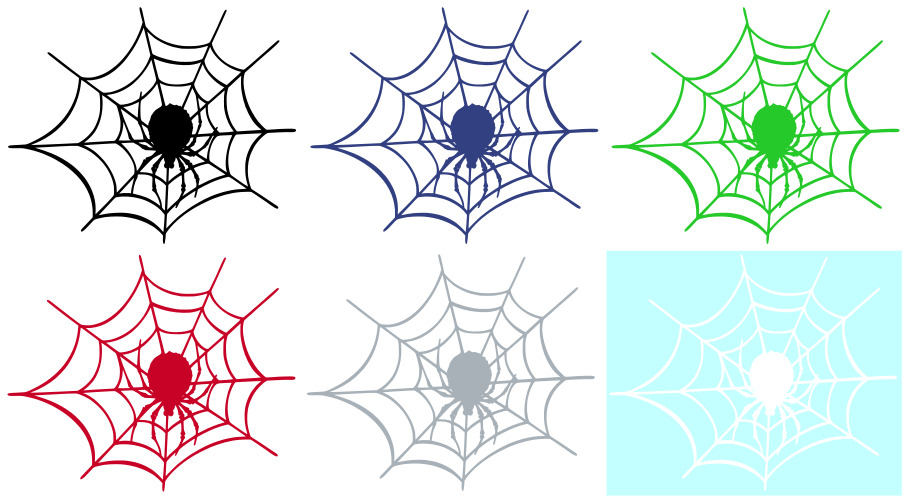 Spider In Web Vinyl Graphic Car Decal Sticker Choice Of