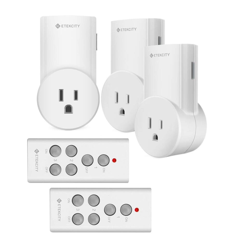 etekcity 3 pack wireless remote control power outlet. Black Bedroom Furniture Sets. Home Design Ideas