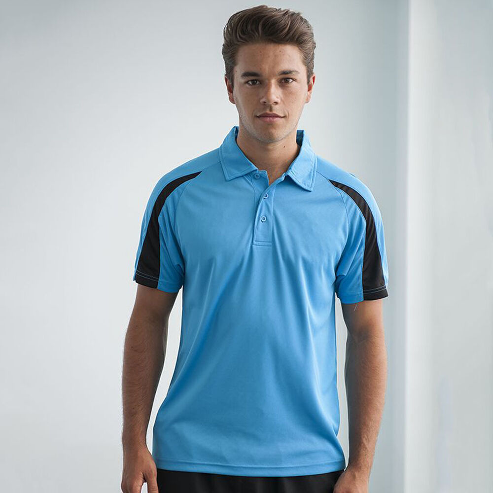 awdis contrast cool polo shirt jc043 mens wear