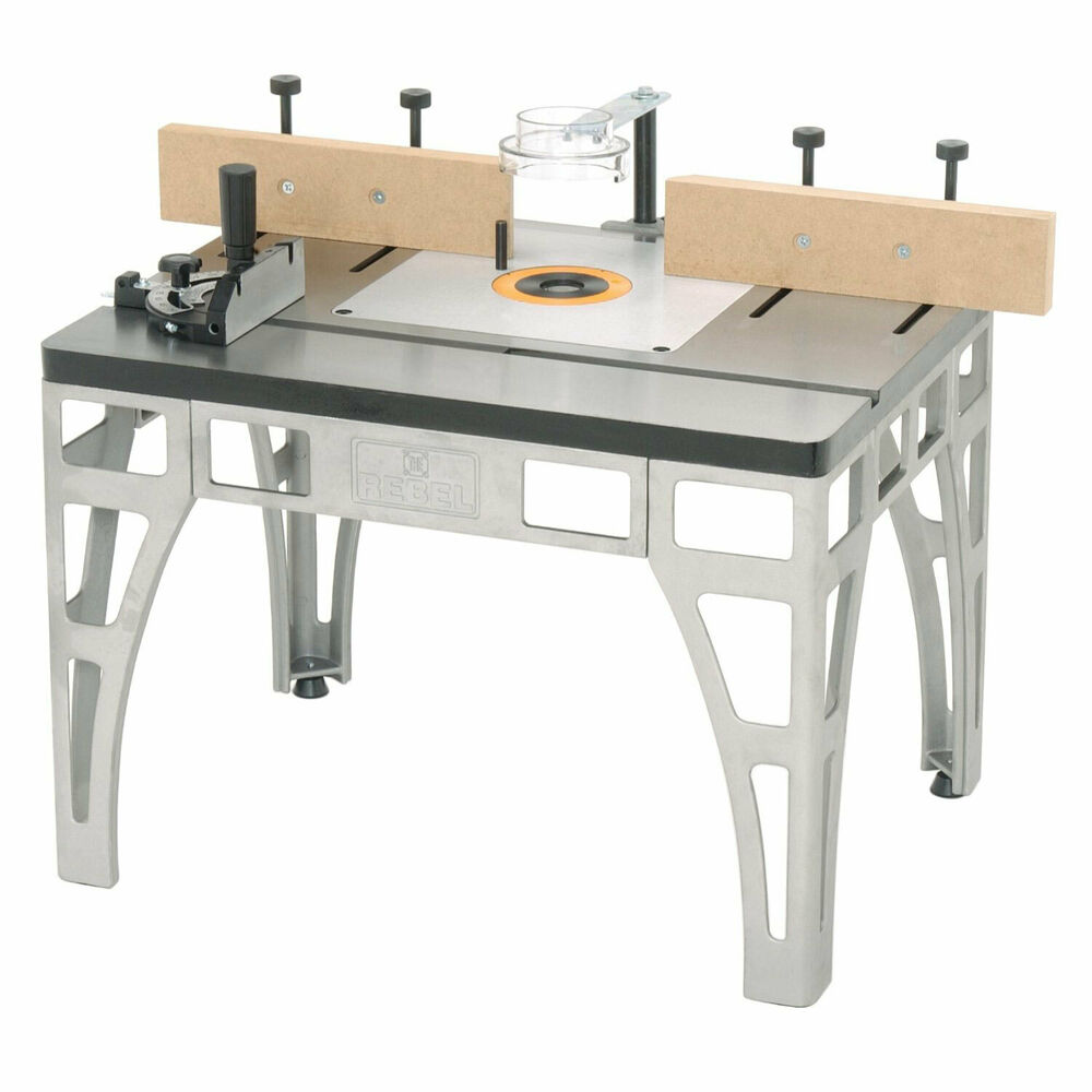 The rebel w2000 precision cast iron router table with for Table router