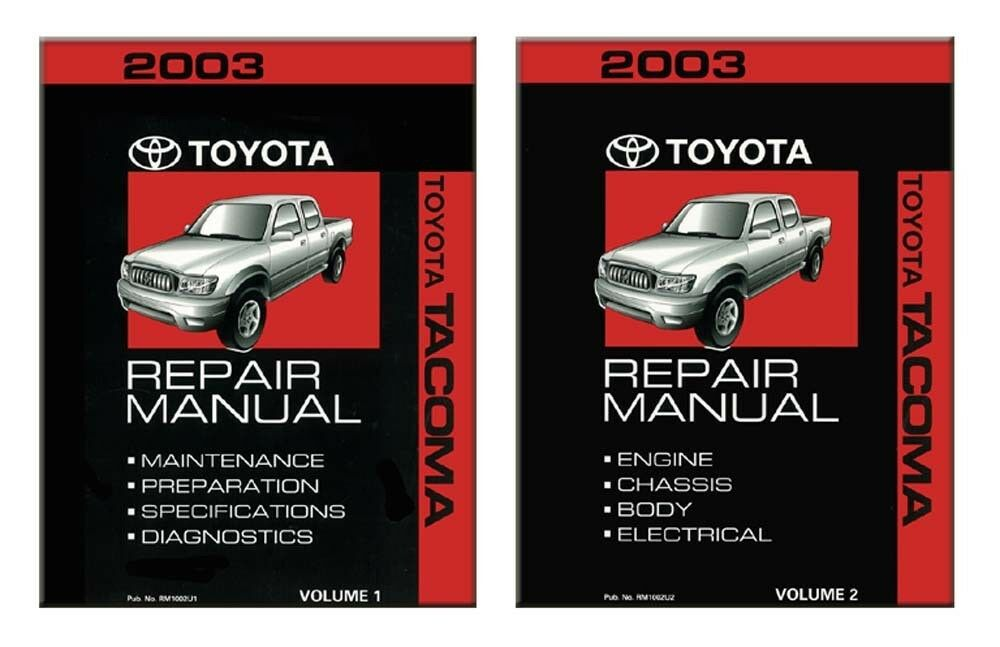 2003 toyota tacoma shop service repair manual book engine drivetrain oem ebay. Black Bedroom Furniture Sets. Home Design Ideas