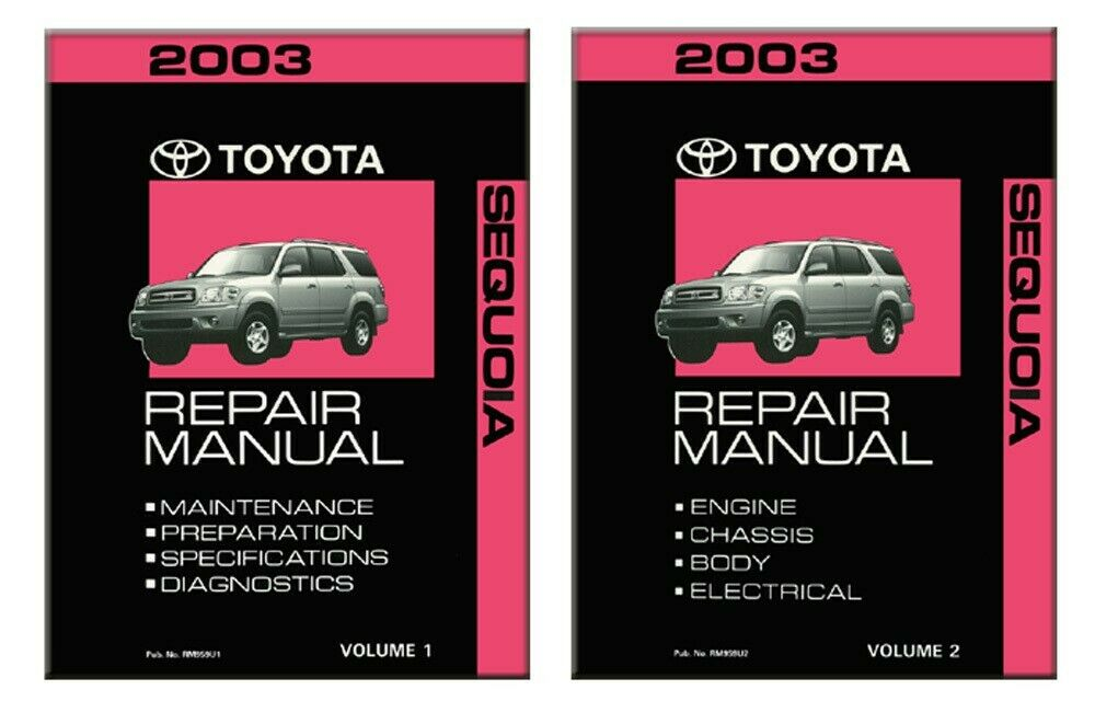 2003 Toyota Sequoia Shop Service Repair Manual