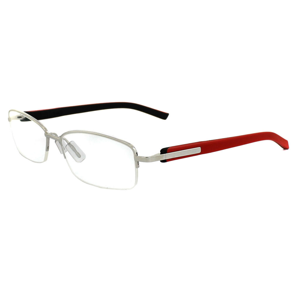 Eyeglass Frame Tags : Tag Heuer Glasses Frames Trends 8210 005 Silver Black Red ...