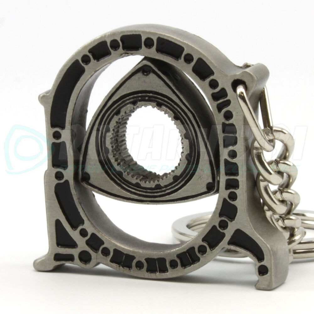 13b Engine: SATIN SILVER ROTOR HOUSING KEYCHAIN RX7 RX2 RX8 R100
