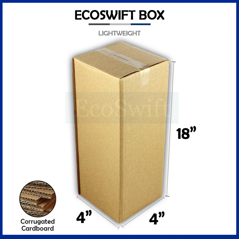 1 4x4x18 cardboard packing mailing tall long shipping. Black Bedroom Furniture Sets. Home Design Ideas