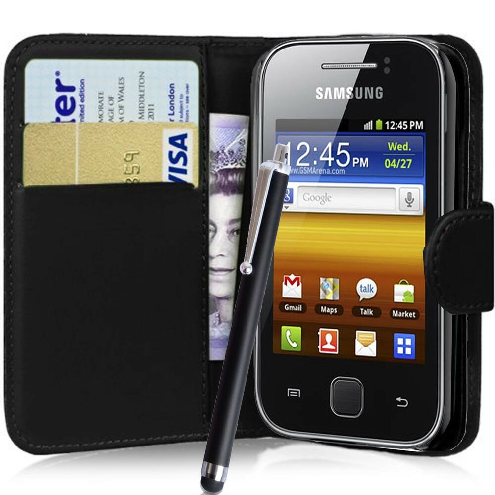 wallet flip pu leather case cover pouch for samsung galaxy. Black Bedroom Furniture Sets. Home Design Ideas
