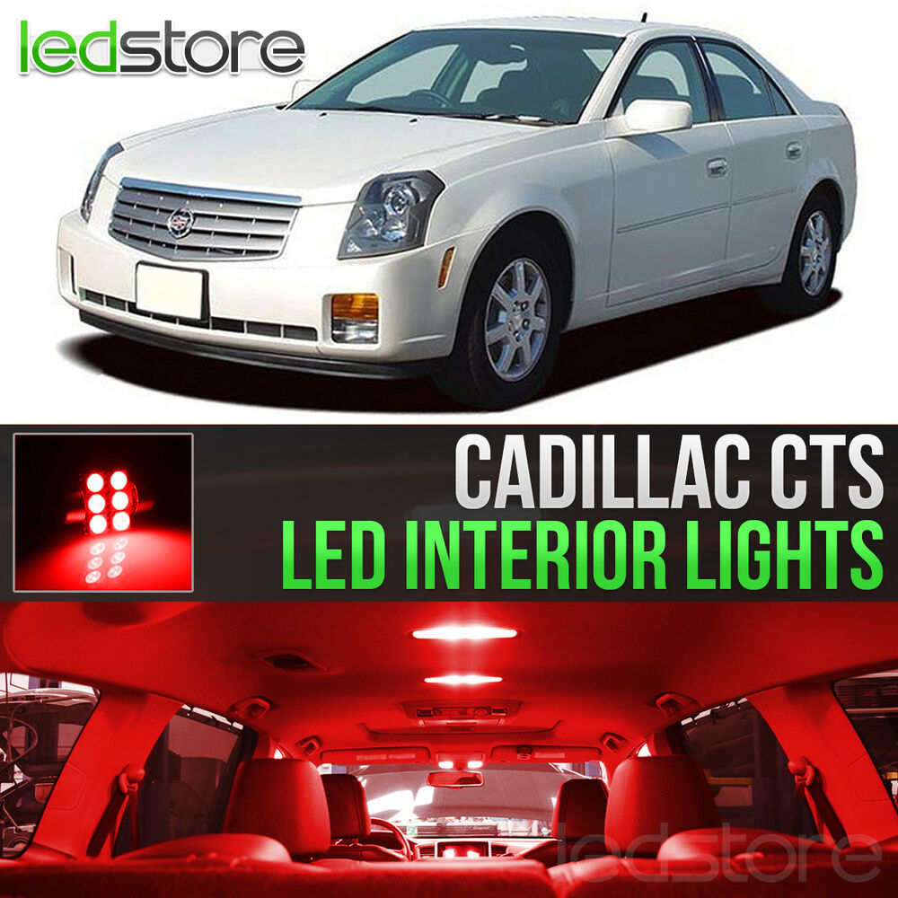 2003-2007 Cadillac CTS Red LED Lights Interior Kit