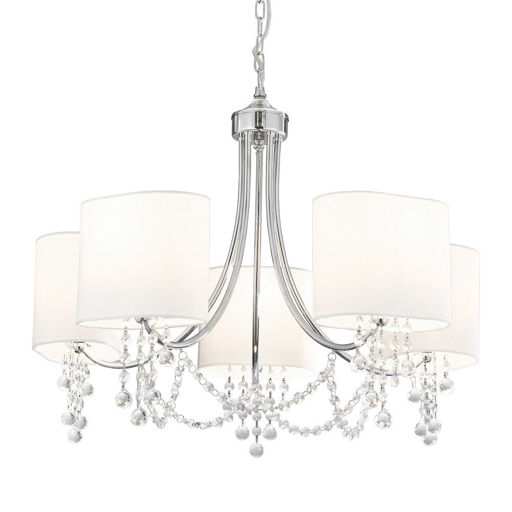 SEARCHLIGHT 5 LIGHTS TRADITIONAL CHROME CEILING FITTING