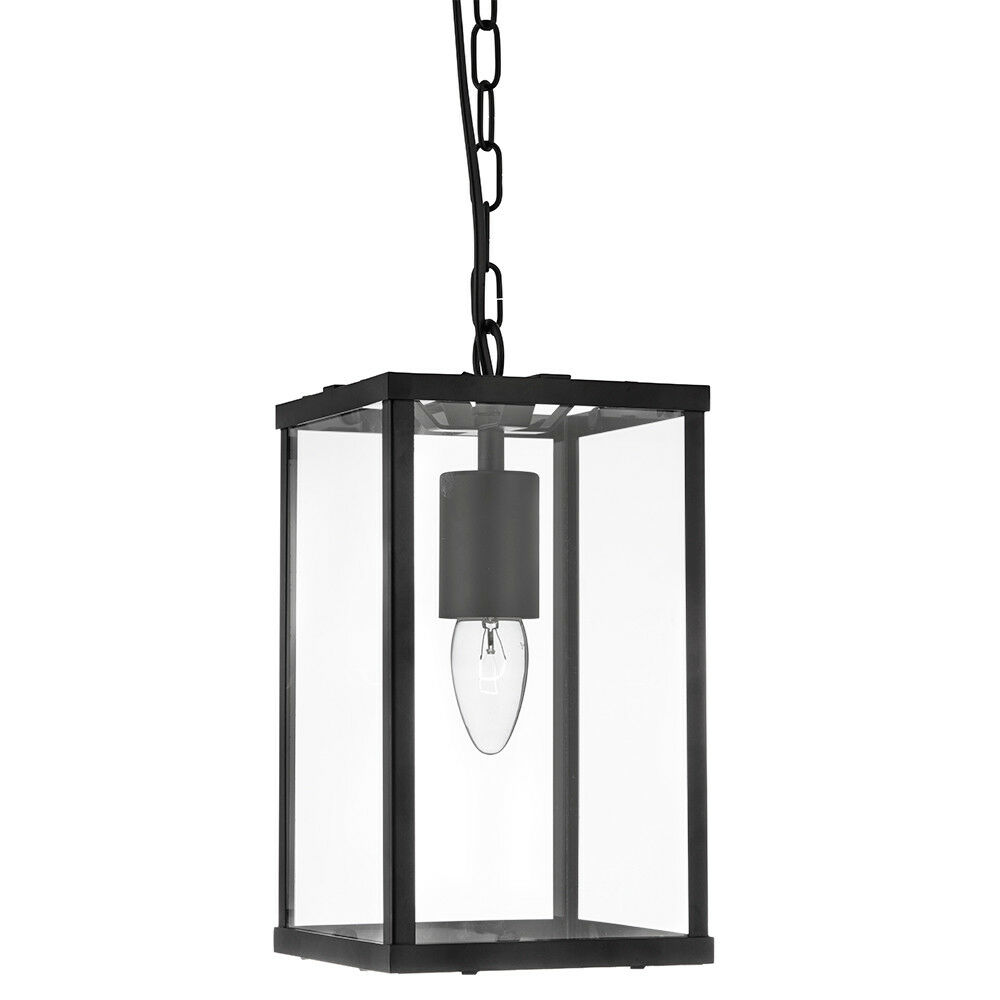 SEARCHLIGHT RECTANGLE BLACK CEILING FITTING PENDANT