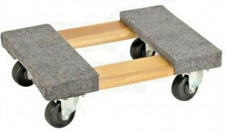 Hardwood Movers Dolly 1000lb 1 2 Ton Carpeted 12 25 Quot X 18