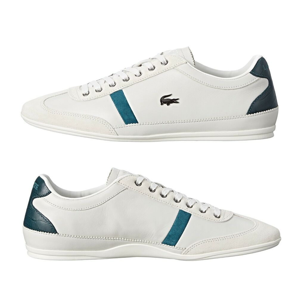 New Lacoste Men's Misano 33 White Leather Lace up casual ...