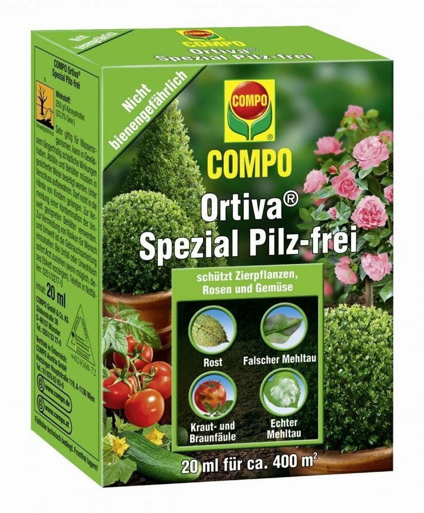 compo ortiva spezial pilz frei 20 ml pilzmittel mehltau. Black Bedroom Furniture Sets. Home Design Ideas
