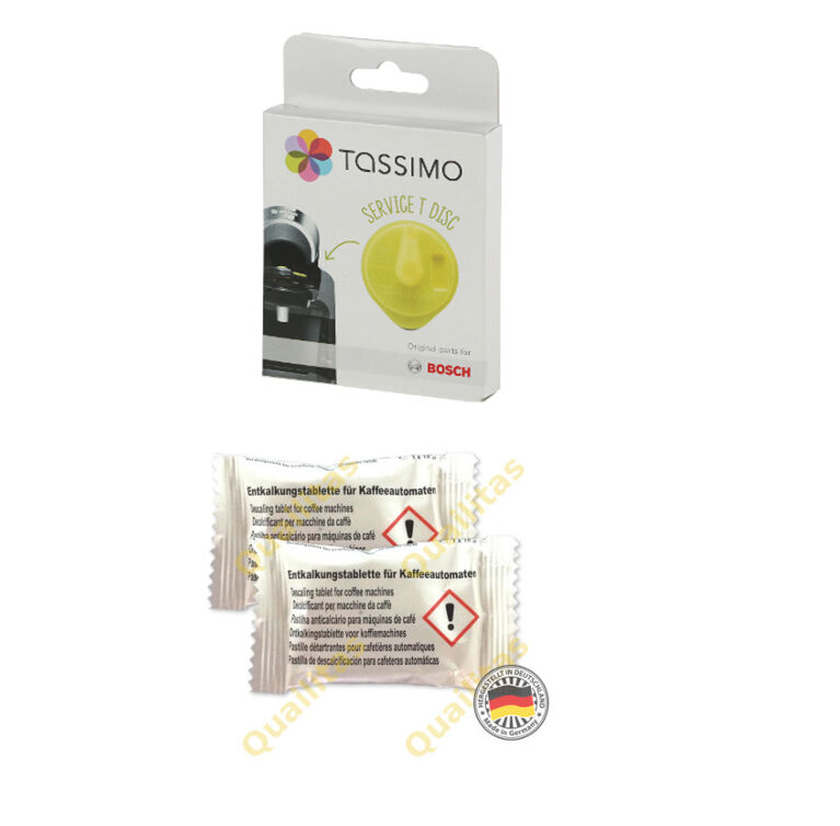 tassimo service cleaning disc 2 descaling tablets bosch. Black Bedroom Furniture Sets. Home Design Ideas
